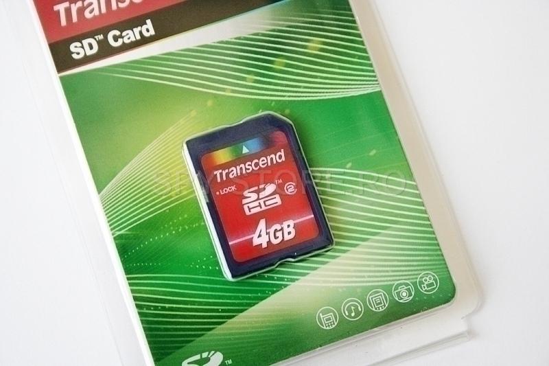Trannscend Memory card de tip SDHC, cu capacitate intre 2 - 4 GB