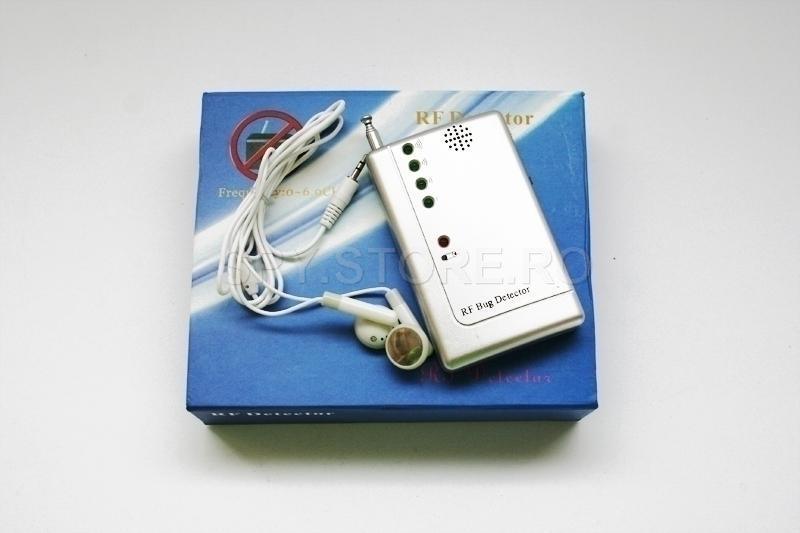 Detector pentru camere wireless si microfoane