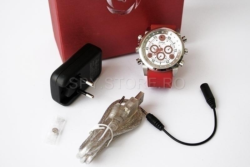 Camera ascunsa in ceas de mana rezistent la apa si MP3 player