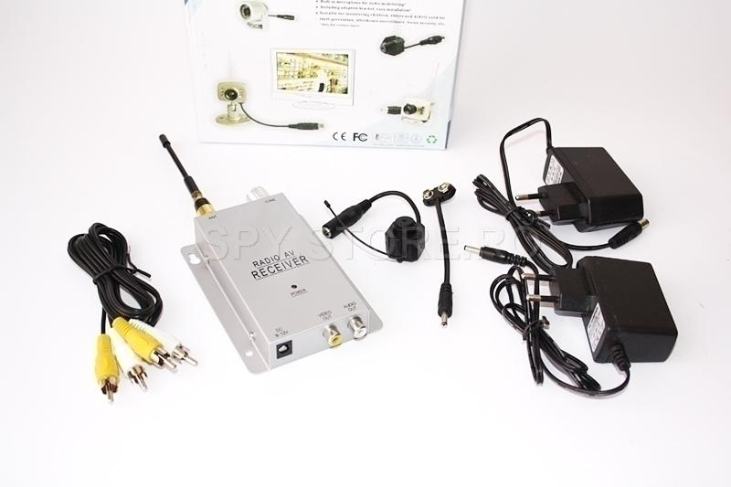 Camera wireless 1.2 GHz si receiver