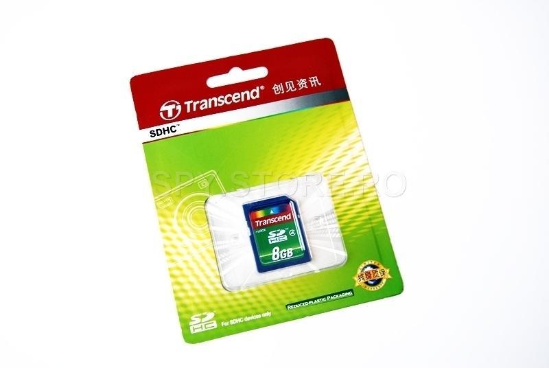 Transcend Memory card de tip SDHC, cu capacitatea intre 2 - 8 GB