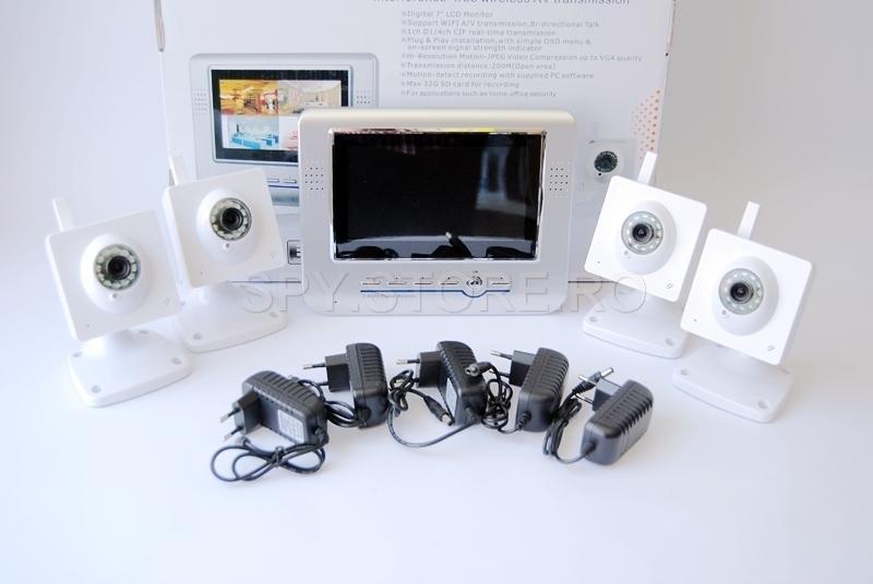 Sustem de video supraveghere wireless