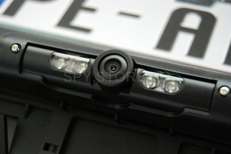 Camera cu night vision in suport de numar auto