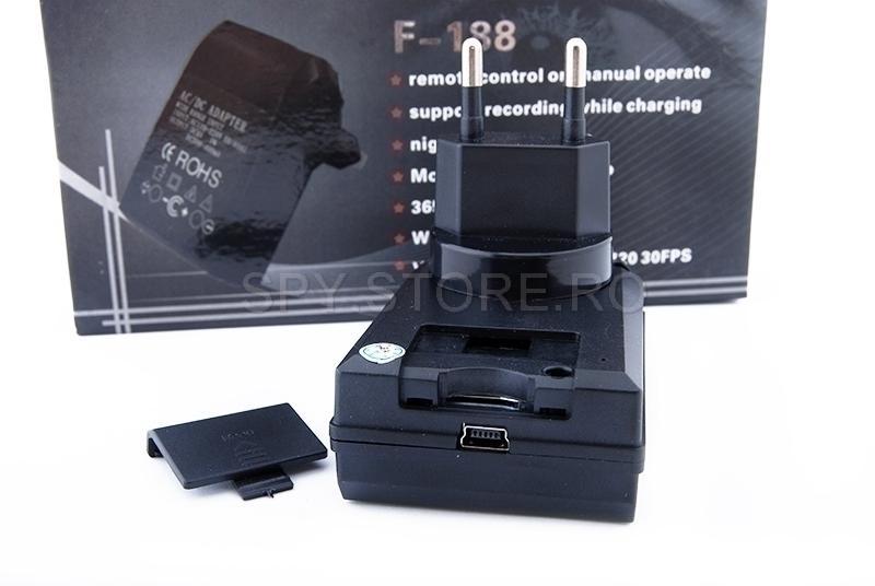 Adaptor priza cu camera spy
