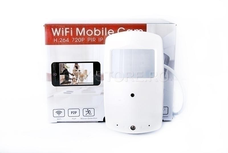 Camera IP in senzor PIR si card microSD