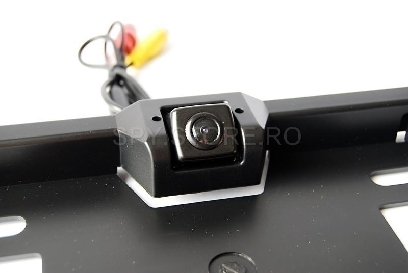 Camera mini camuflata in suport numar auto