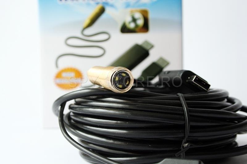 Video endoscop rezistent la apa - 20 metri