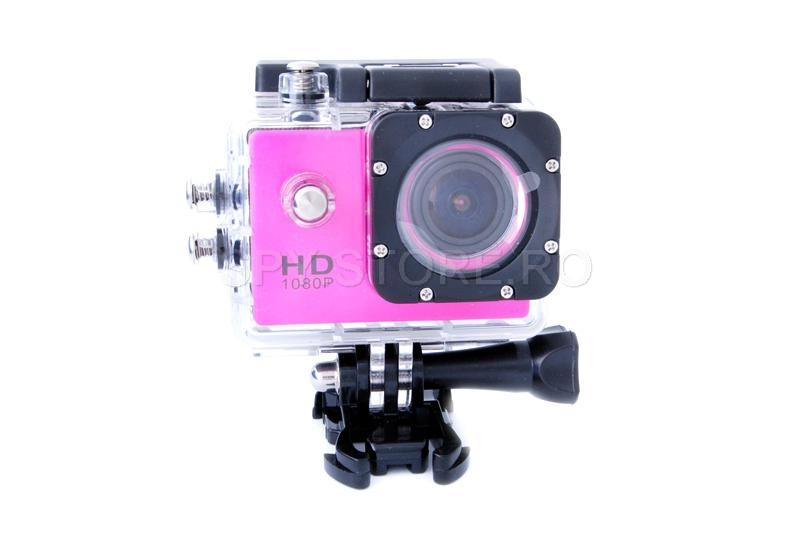 Camera video sport Full HD inchisa ermetic - roz