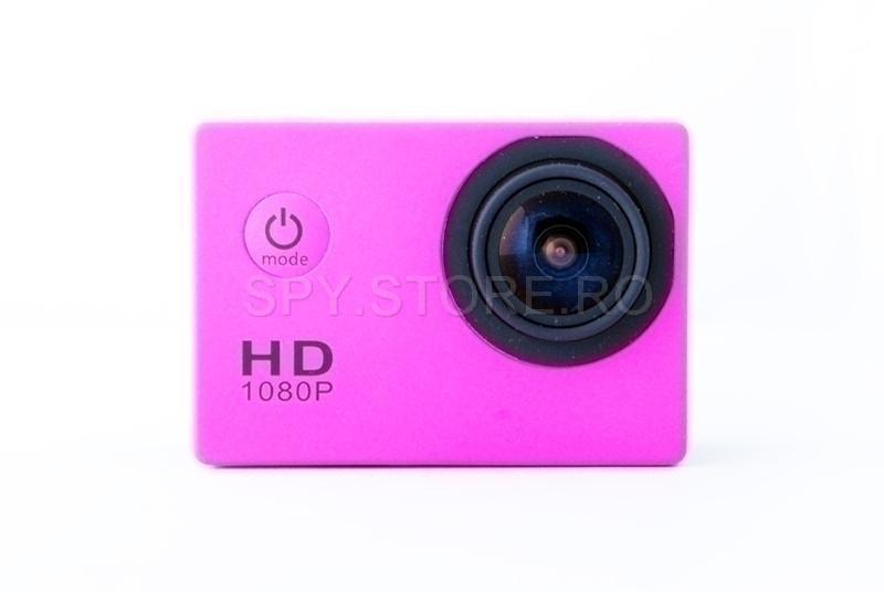 Camera video sport Full HD inchisa ermetic - roz