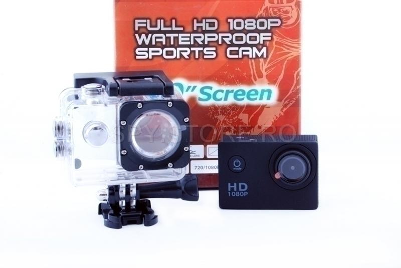 Camera video sport ermetica si display de 1.5 inchi