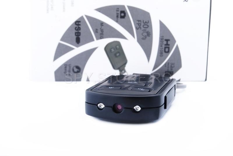 Camera camuflata in telecomanda auto si IR